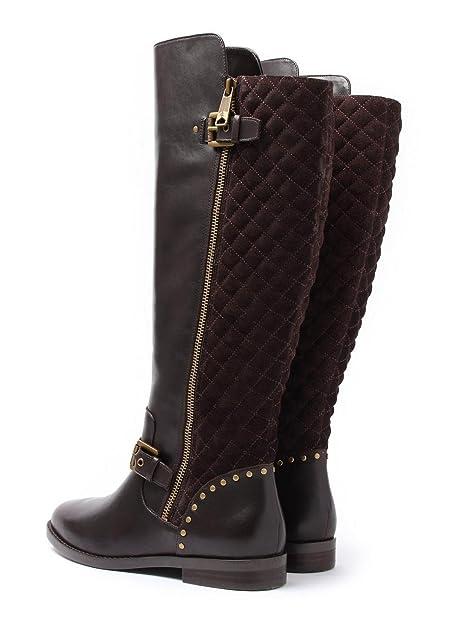 28a6ee518d Lauren Ralph Lauren - Botas de Cuero para Mujer Marrón marrón Oscuro, Color  Marrón, Talla 36: Amazon.es: Zapatos y complementos