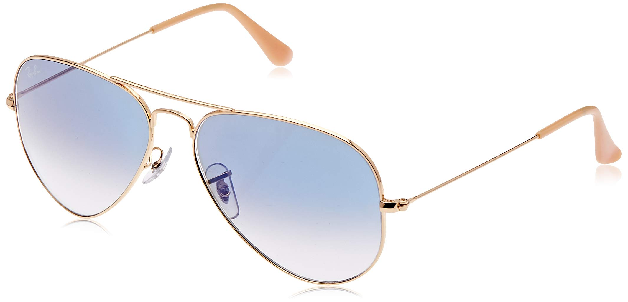 RAY-BAN RB3025 Aviator Large Metal Sunglasses, Gold/Blue Gradient, 55 mm by RAY-BAN