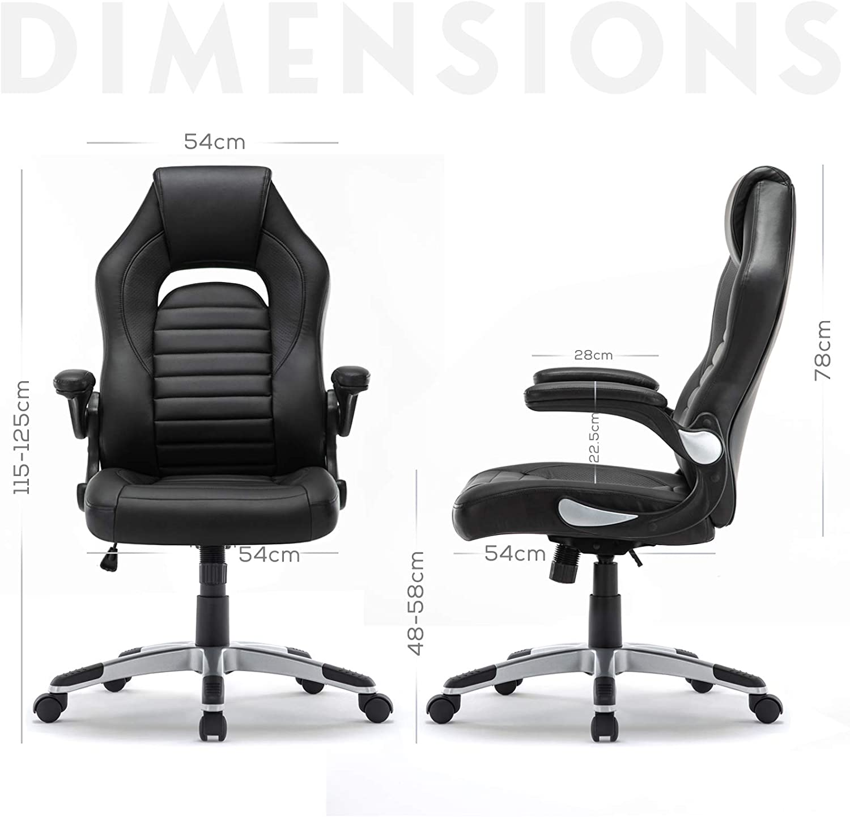 Intimate Wm Heart Ergonomischer Gaming Stuhl Hochverstellbarer Computerstuhl Bürostuhl Aus Kunstleder 360 Grad Drehbar Schreibtischstuhl 150kg Belastbarkeit Schwarz Küche Haushalt