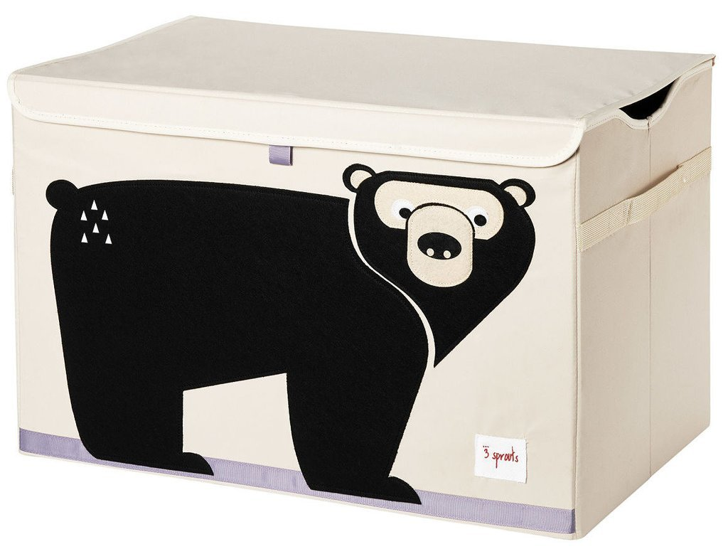 3 Sprouts Toy Chest, Black Bear
