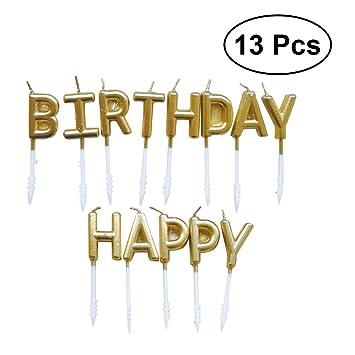 YeahiBaby Velas de 13pcs feliz cumpleaños velas Velas de ...