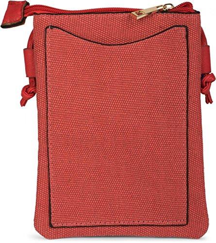 styleBREAKER - Bolso cruzados para mujer rojo rojo talla única rojo