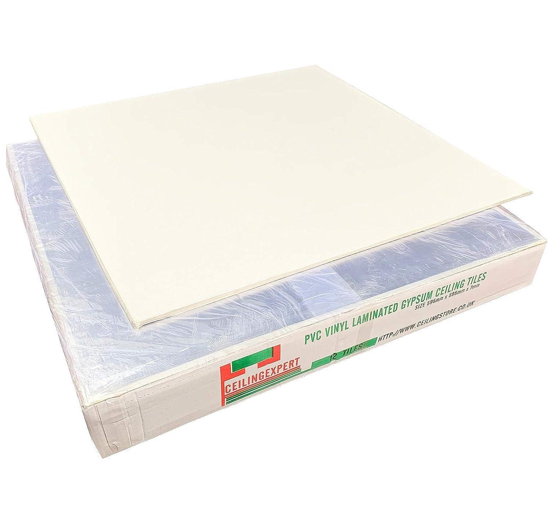 Suspended Vinyl Ceiling Tiles 600 x 600 mm Laminate Easy Wipe Clean Waterproof