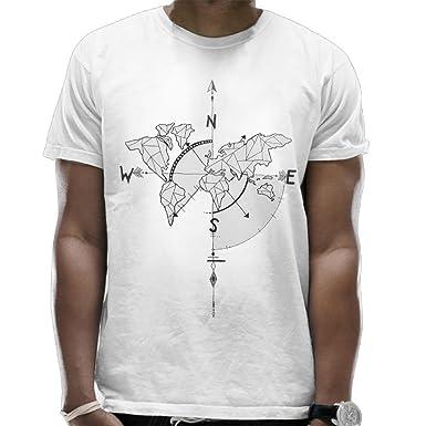 Funny world map short sleeve t shirt men white amazon fashion funny world map short sleeve t shirt men white gumiabroncs Gallery
