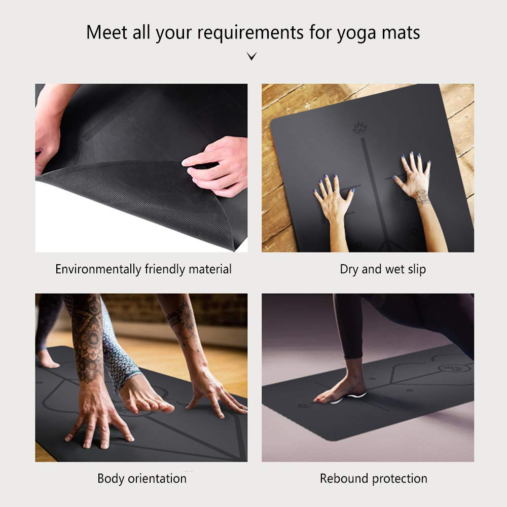 Amazon.com: YOGANHJAT Yoga Mat, Eco Friendly Non Slip ...
