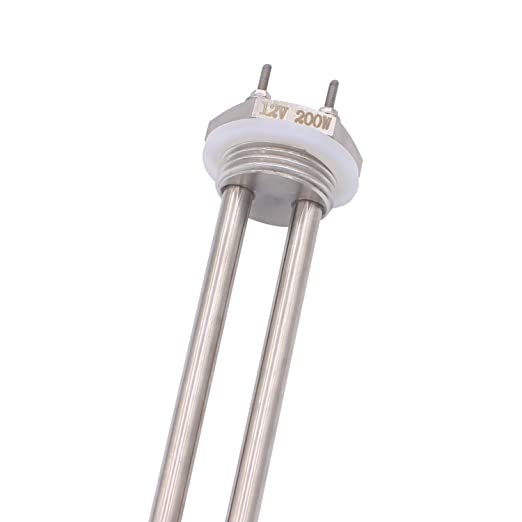 Aiicioo 12v 200w Elemento de Calefacción Material de Acero Inoxidable Grado Alimenticio Resistencia para Calentador 1