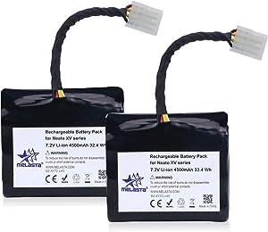 MELASTA Upgraded 7.2V 4500mAh Lithium-ion Batteries for Neato XV Series XV-21 XV-11 XV-12 XV-14 XV-15 XV-25 XV Essential Signature Pro Robotics Vacuum Cleaner (Set of 2)