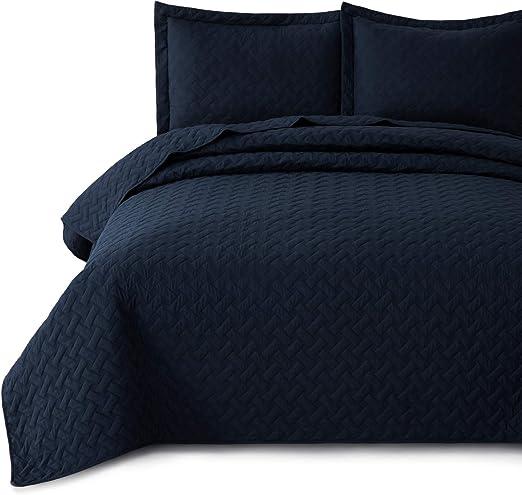 Amazon.com: Bedsure King Quilt Set Bedspreads King Size Navy