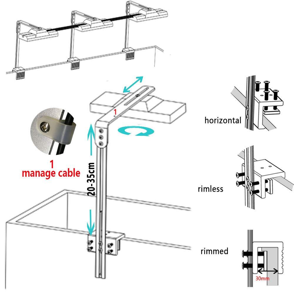 DSunY Accessory for Light -Single Arm LED Mounting Kit Bracket (Silver) by DSunY (Image #3)