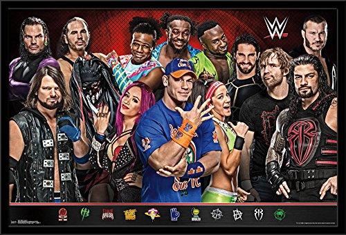 Trends International WWE - Group 17 Framed Poster, 24.25