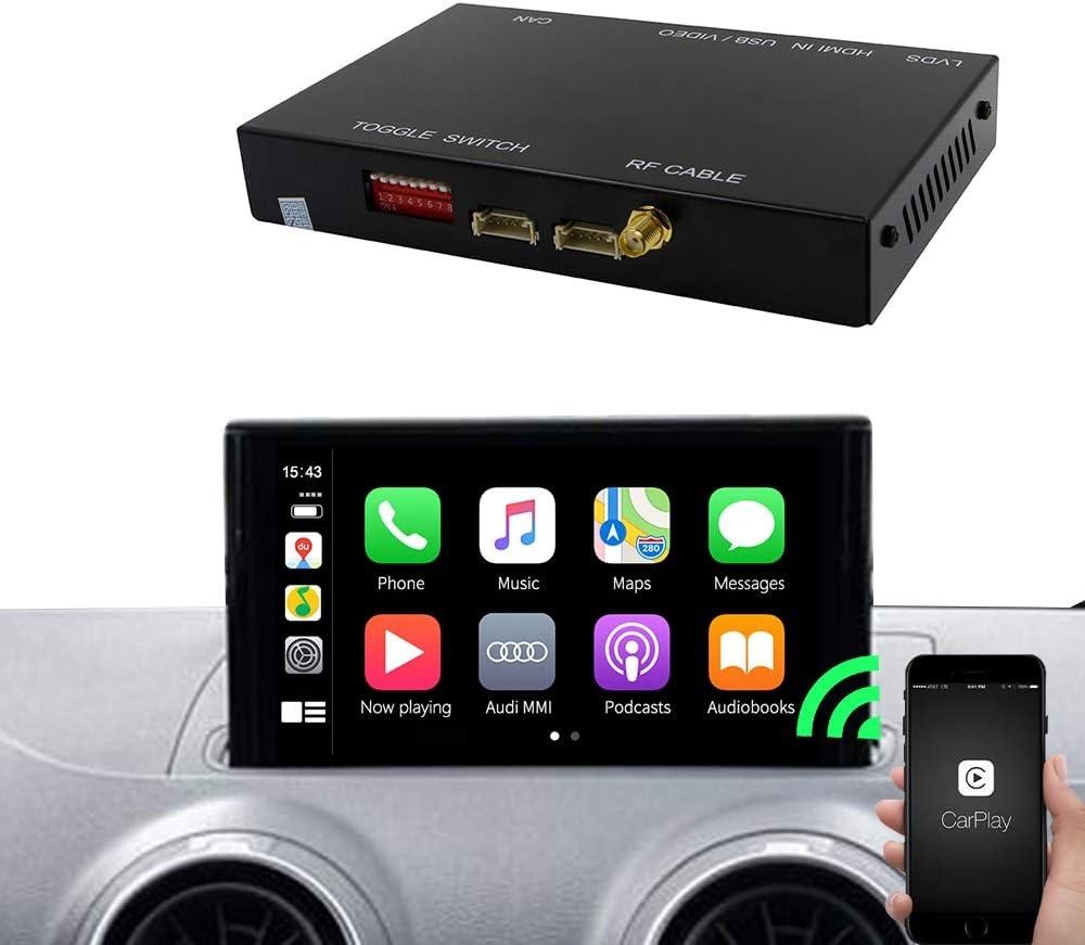 Carlinkit Wireless iOS Carplay Receiver Box Interface for Audi A3 (13-19) Original carplay retrofit(Support Navigation,Google&Waze Map, Music,Mirroring)