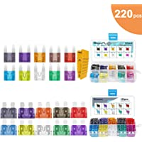 Pack of 5 ZAOJIAO 12 AWG Gauge ATC//ATO Car Inline Water-Resistant Fuse Holder 100PCs Auto Standard Blade Assorted Fuse