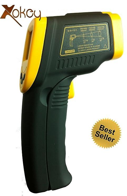 Amazon.com: Infrarrojos IR Termómetro Pistola (sin contacto ...
