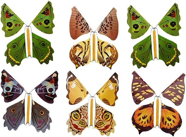 Confezione da 6 Baker Ross Farfalle Volanti Perfetti per Giocare o per Sacchetti Regalo per Feste di Bambini