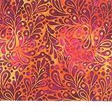 Moda Fabrics Wild Waves Batiks Sunrise Teardrop Paisley offers