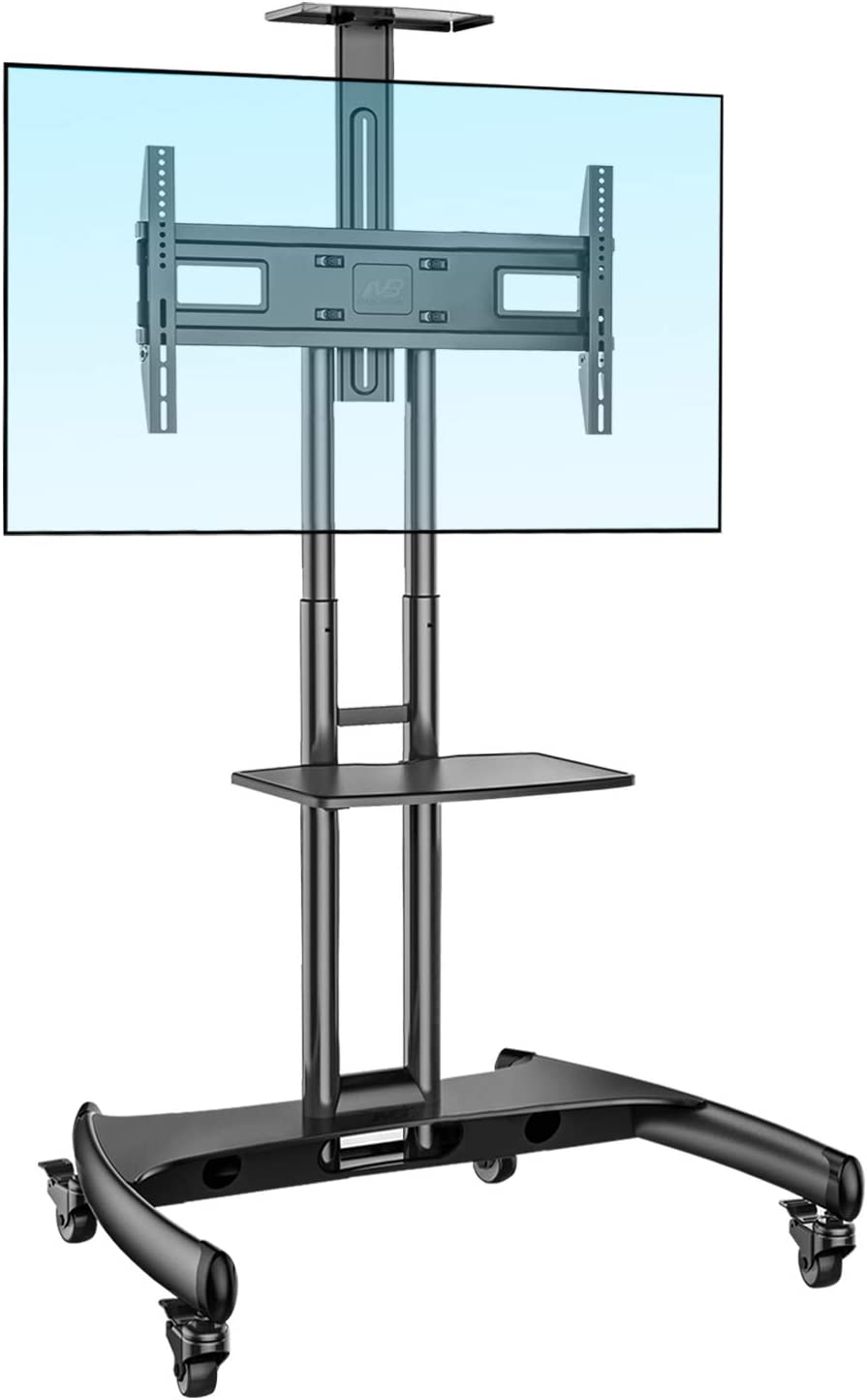 NB North Bayou Mobile TV Cart TV Stand with Wheels for 32 to 65 Inch LCD LED OLED Plasma Flat Panel Screens up to 100lbs AVA1500-60-1P (Black): Electronics