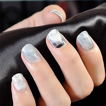 Nmkl38 500pcs Clear Square Half Cover False Fingernails For Nail Art
