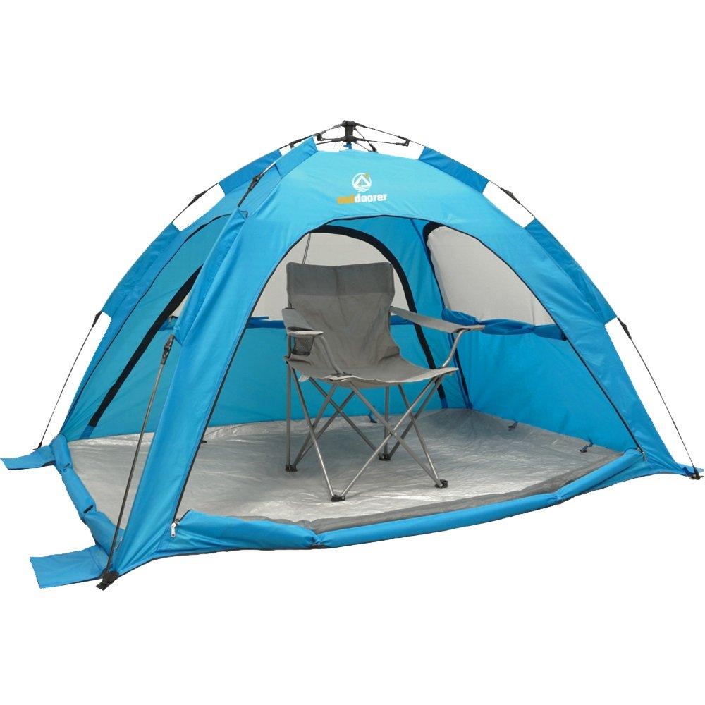 SunSnapper d'Outdoorer – montage rapide automatique de la tente de plage avec protection solaire 80, aération optimale, protection contre les insectes 0728795048228