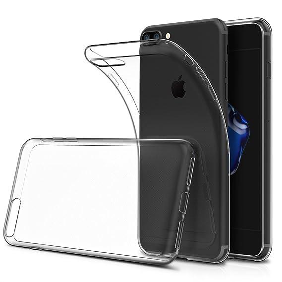 detailed look 1337c fc96f Simpeak Soft TPU Transparent Protector Clear Case for iPhone 7 Plus, iPhone  8 Plus [Anti Slip][Scratch Resistant]