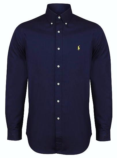 Ralph Lauren Polo Men's Custom Fit Poplin Shirt White Navy Black S - XXL:  Amazon.co.uk: Clothing