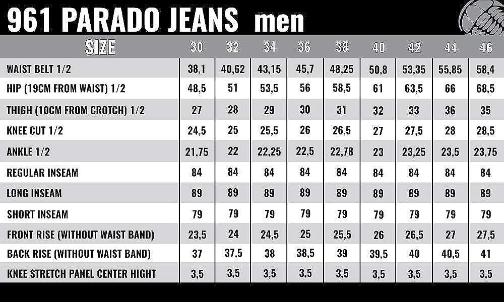 Trilobite Motorrad Herren Jeans Parado Schwarz Größe W36 L34 Lange Bekleidung