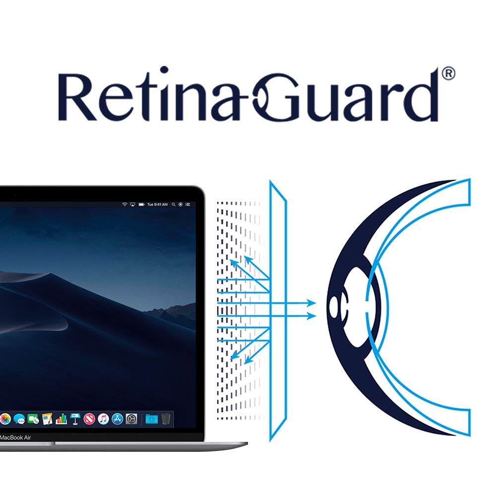 RetinaGuard Anti UV, Anti Blue Light Screen Protector for New MacBook Air 13 Inch (2018), SGS and Intertek Tested, Blocks Excessive Harmful Blue Light, Reduce Eye Fatigue and Eye Strain
