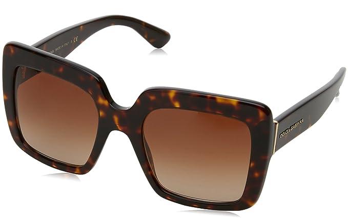 Womens 0DG4277 502/13 Sunglasses, Havana/Browngradient, 52 Dolce & Gabbana