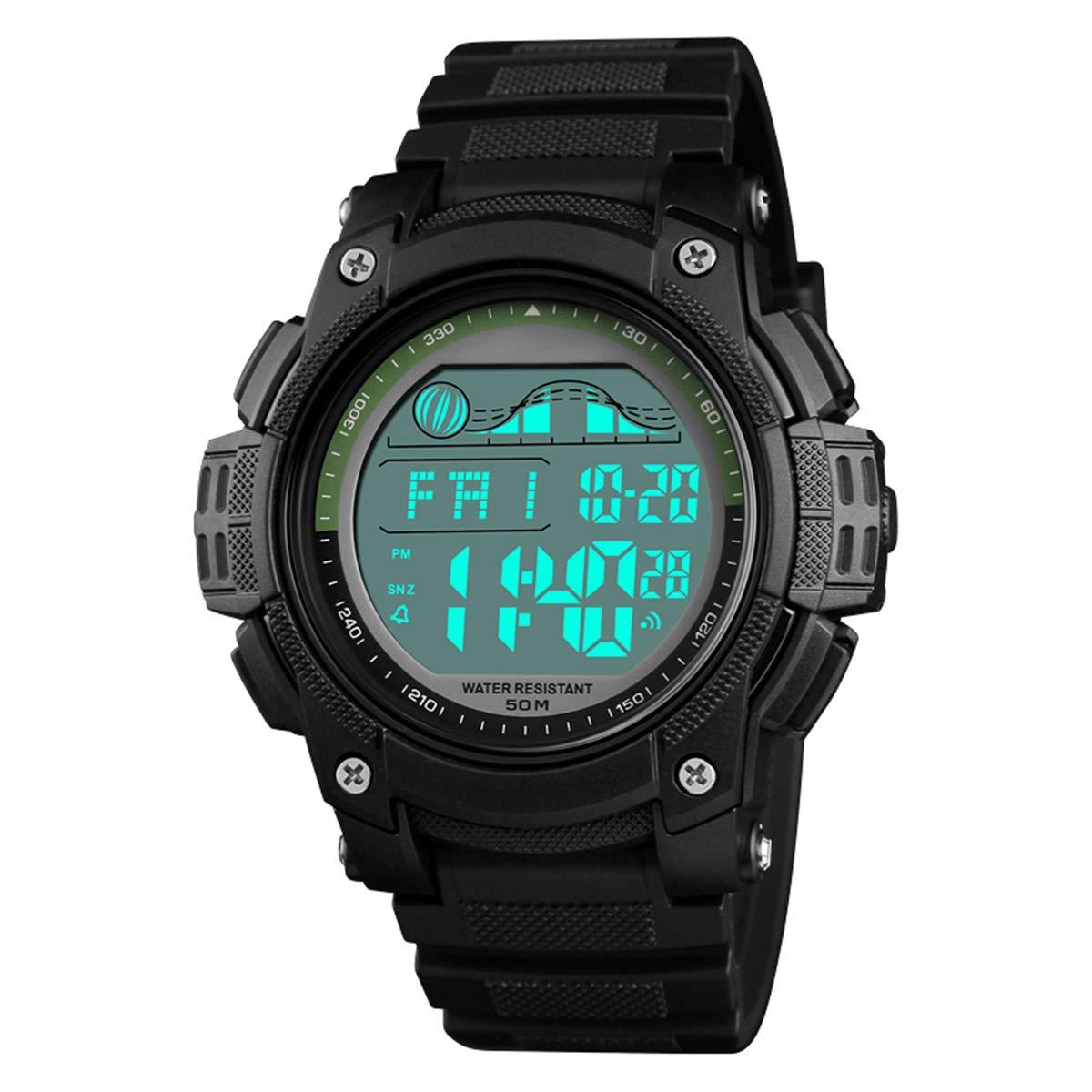 Reloj de Pulsera para Hombre, Digital, Deportivo, Impermeable, Militar, multifunción, Simple y Grande, con Alarma de Tiempo Dual, cronómetro, cronómetro, para Hombre