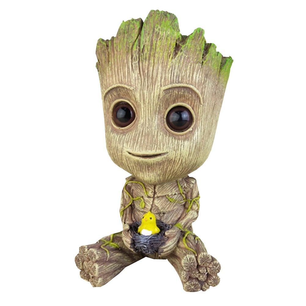Nest, Large YOURNELO Cute Cartoon Treeman Groot Guardians of The Galaxy Desk Ornaments Money Box Piggy Bank Money Bank