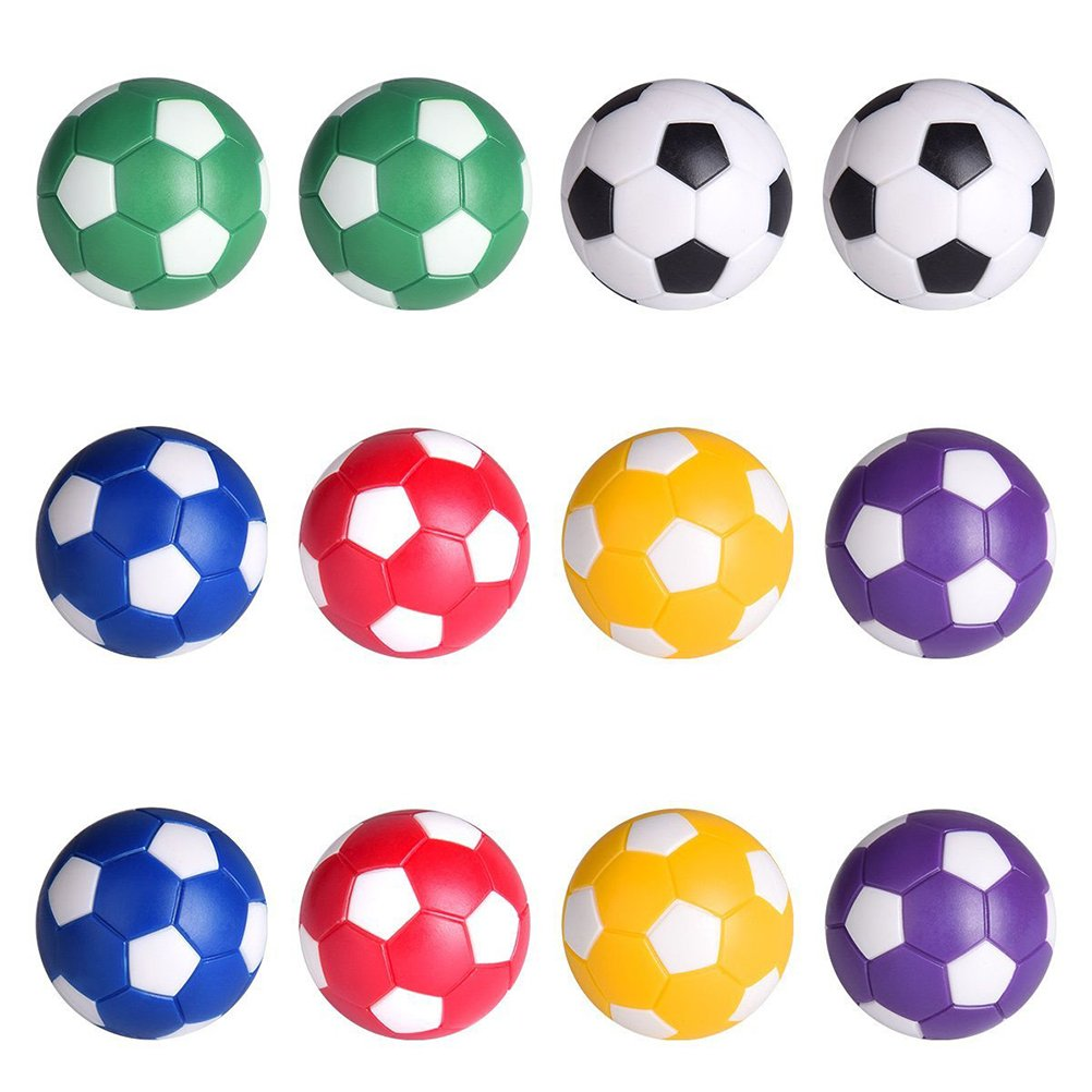 LIOOBO Boules de Jeu de Football de Table de Boules de Rechange du Football de Tableau 6PCS