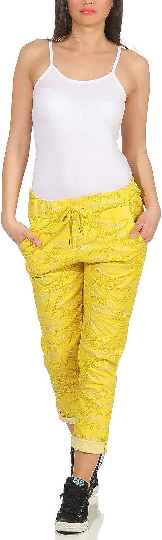ZARMEXX Pantalones de ch/ándal para Mujer Pantal/ón de Verano Estilo Boyfriend boygy Estiramiento en Toda la impresi/ón Un tama/ño