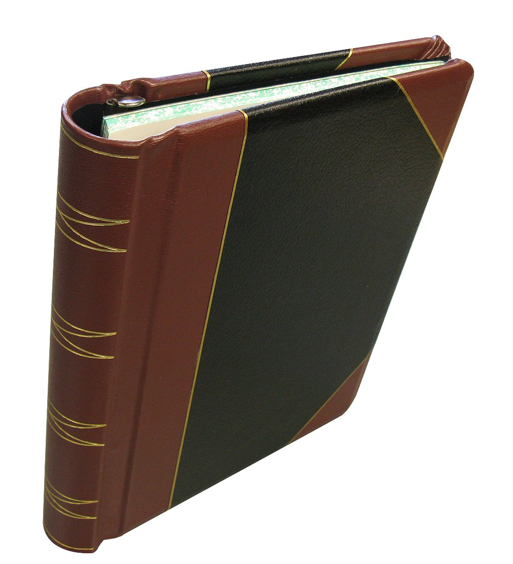 Corpkit Corporate Records, 3 Post Minute Book: 1/4 Bind Leather Binder, 8.5 x 11, Binder Only