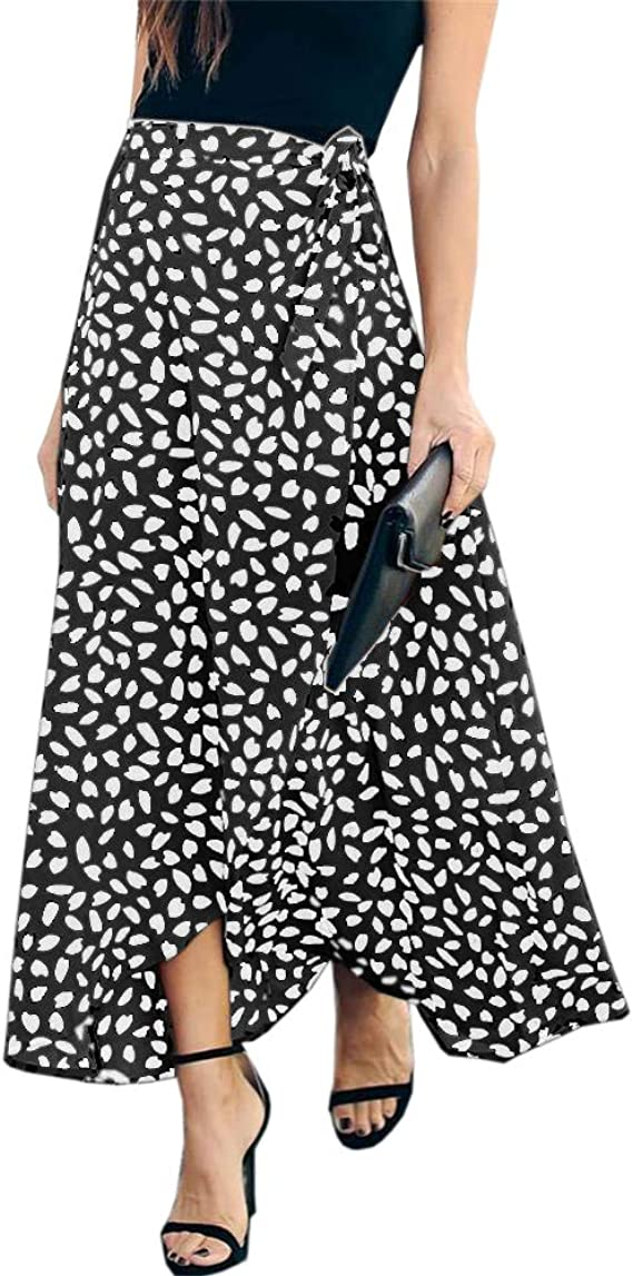 Free Amazon Promo Code 2020 for Womens Leopard Print Long Skirt High Waisted
