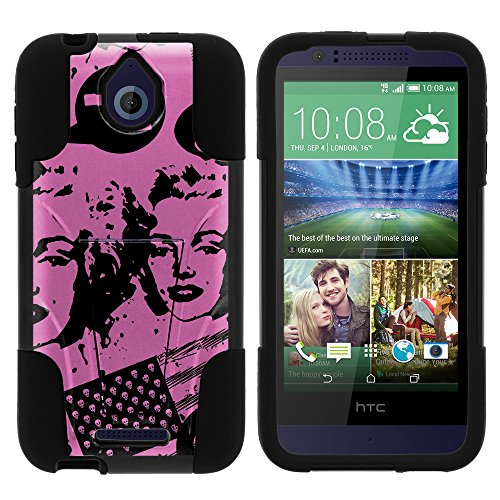 MINITURTLE Case Compatible w/ HTC Desire 510 Phone Cover, Armor Cover STRIKE Impact Stand Case w/ Customized Designs for HTC Desire 510 Marilyn Never Died (Marilyn Case Phone 510 Desire Htc)