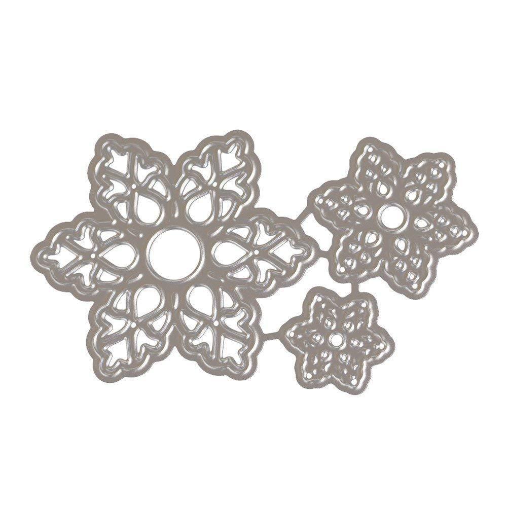 Hot Sale! Hongxin Metal Cutting Dies Layered Sharpe Flower Dies Cut Decorate Scrapbooking Embossing Stencil DIY Album Card Craft Dies Creative Gift For Her by Hongxin (Image #6)