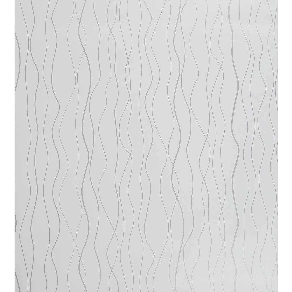 Papel Pintado Autoadhesivo de Plata Blanca Fondos de Pantalla Peel and Stick Para Cocina Gabinete de Pared Stripe Wallpaper Rollos de Pegatinas Para Ba/ño Habitaci/ón Mueble Impermeable 44 1000 cm