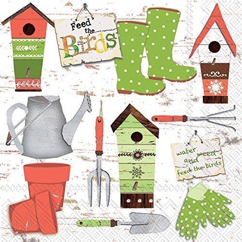 Celebrate the Home Debbie Taylor-Kerman 3-Ply Paper Luncheon Napkins, Garden, 20 Count