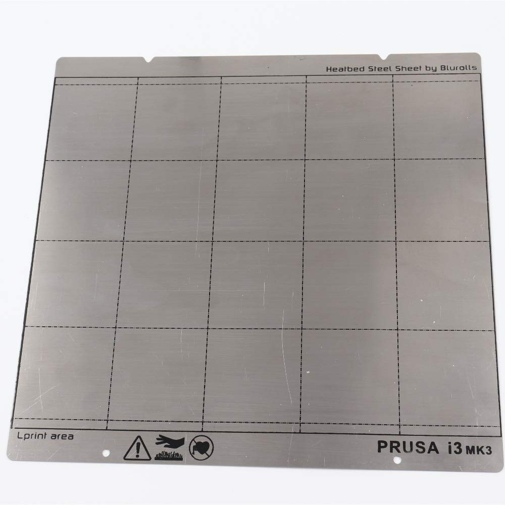Reprap i3 Mk3 Mk52 Spring Steel Sheet Heat Bed Platform 3D Printer Printing Buildplate