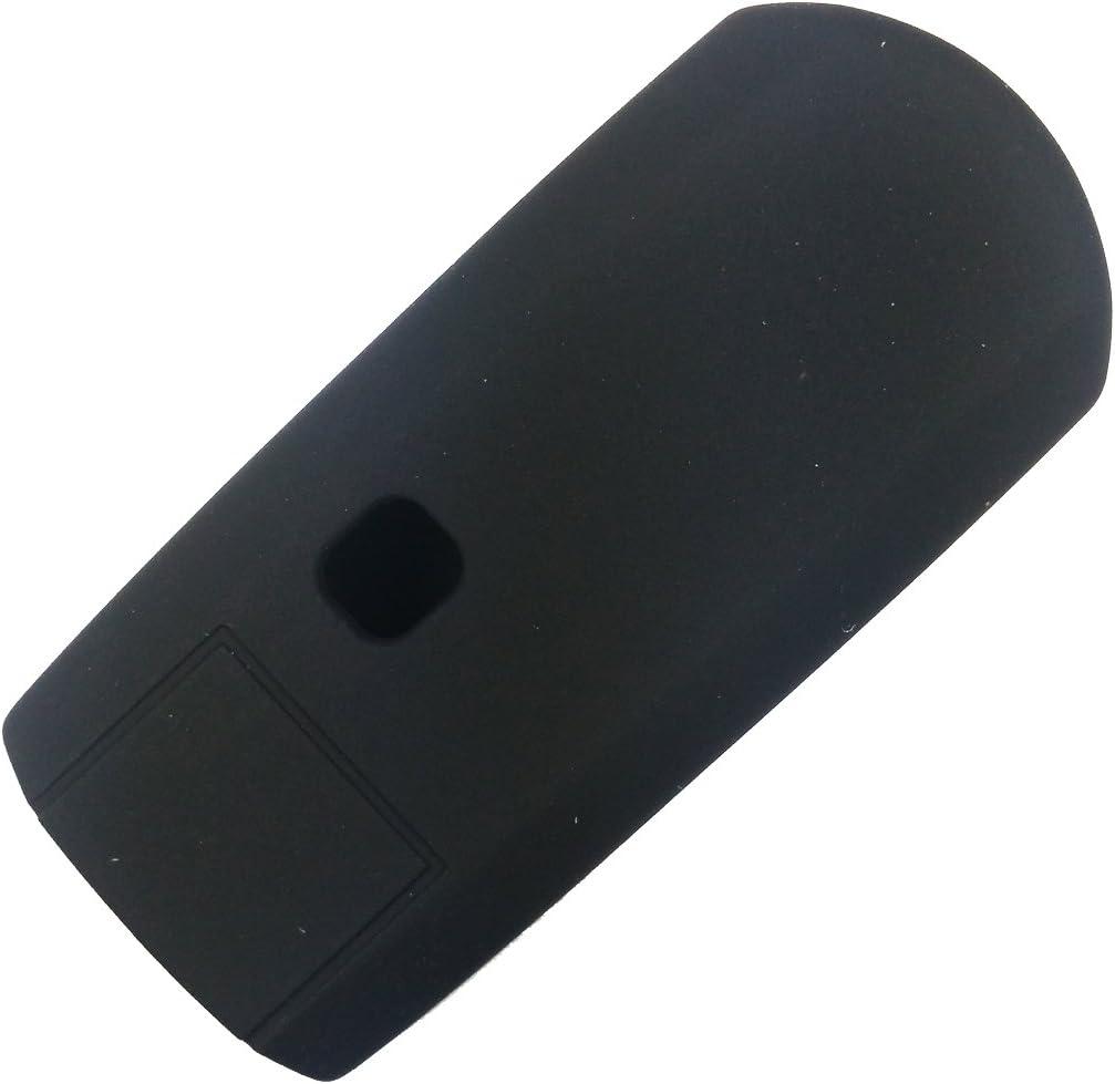 2Pcs Coolbestda Silicone Key Fob Cover Case Skin Jacket Remote Keyless Shell Protector for Mazda 3 6 CX-7 CX-9 MX-5 Miata 4 Buttons Black Blue