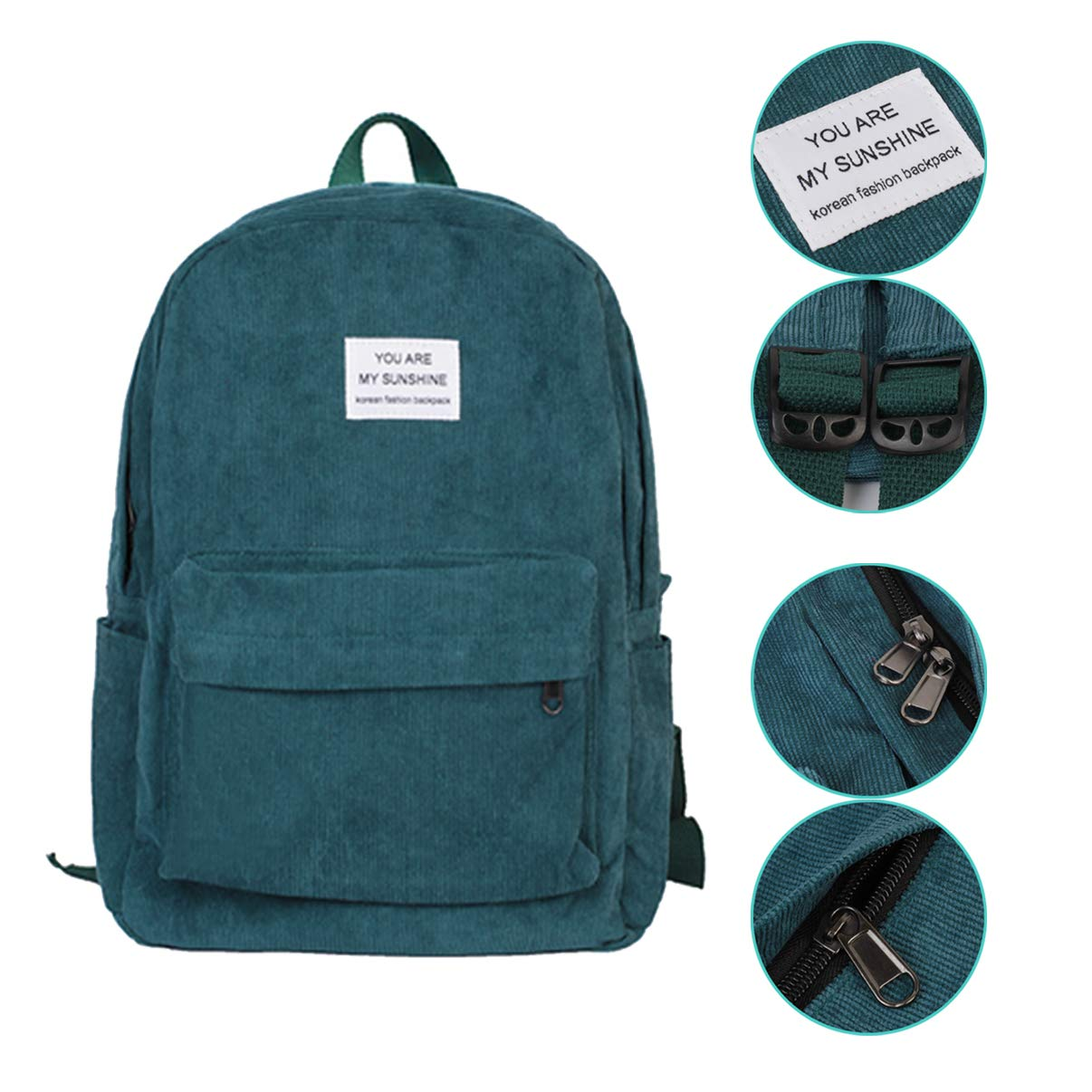 Laptop Backpack with Double-Zipper Closure /& Bottle Side Pockets for College//Travel//School School Backpack for Girls