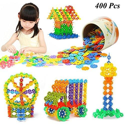 400 Pcs 3D Puzzle Jigsaw Plastic Snowflake Building Blocks Building Model Puzzle Educational Intelligence Toys For (Necklace Dollar Sign Jumbo)
