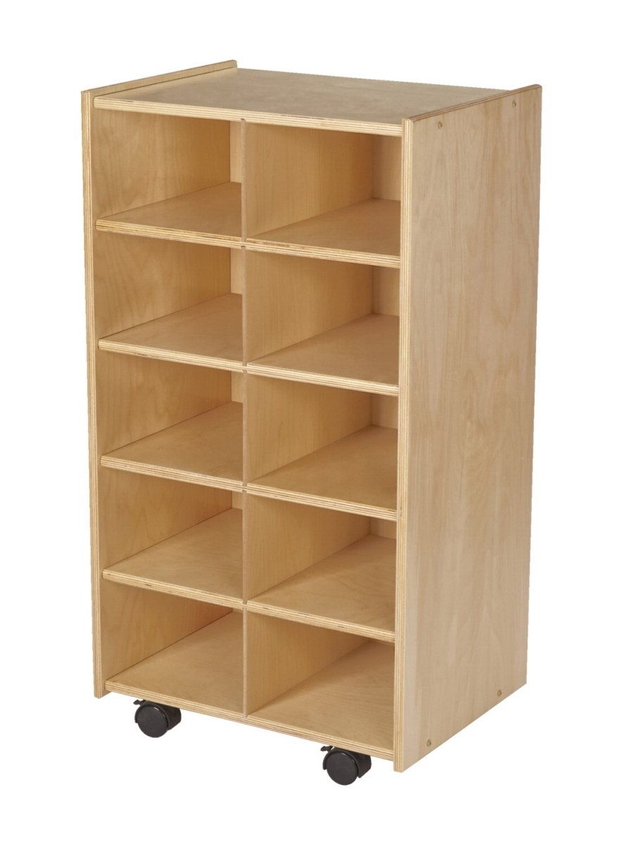 Bird in Hand 1559875 19.75 x 14.25 x 36 in. Mobile Cubby Units with Locking Casters