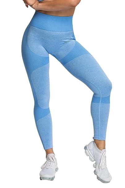 Pau1Hami1ton Sin Costura Sin Costura Leggins Mujer, Mallas Fitness Push Up Pantalones Deporte Running Yoga GP-15
