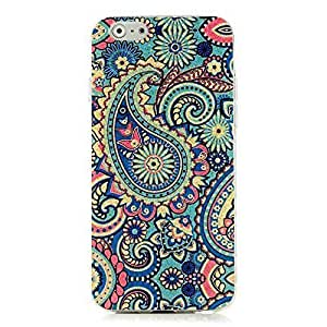 Sunshine Case Painted Series Shiny Glitter Fluorescence Gold Powder TPU Golden Blue Protective Skin Shell Case Cover with Jelly Fish Pattern for Iphone 6 4.7""