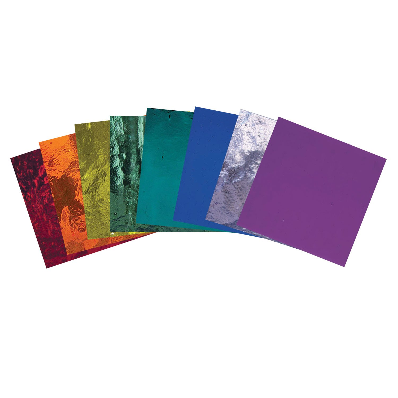 Bullseye Rainbow Transparent Glass Pack - 90 Coe