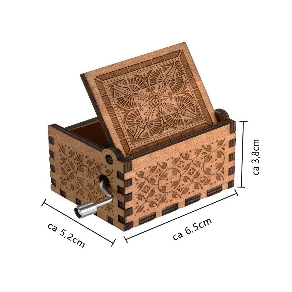 Keliti Spieluhr h/ölzerne Holz Spieluhr Musik-Box Reine Hand-klassischen Harry Potter Holz Handwerk Geburtstags-Weihnachten