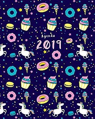 Agenda 2019: Semanal | Modelo unicornio y donut | 25x20 cm ...