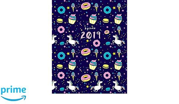 Agenda 2019: Semanal   Modelo unicornio y donut   25x20 cm ...