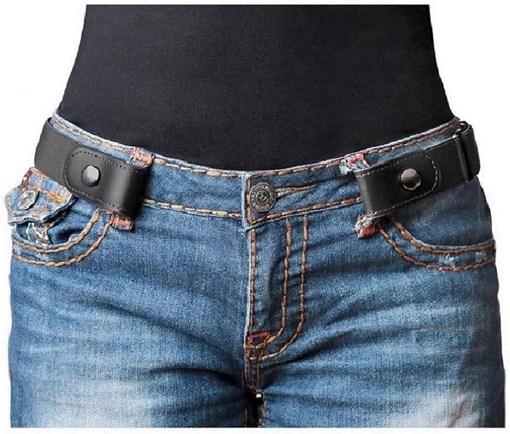 ベルト レディース メンズ ゴムベルト 男女兼用 ノーバックルベルト 裏技ベルト フリーサイズ おしゃれ カジュアル トイレ楽々 大きいサイズ(ジャスグッド)JASGOOD (ブラック)