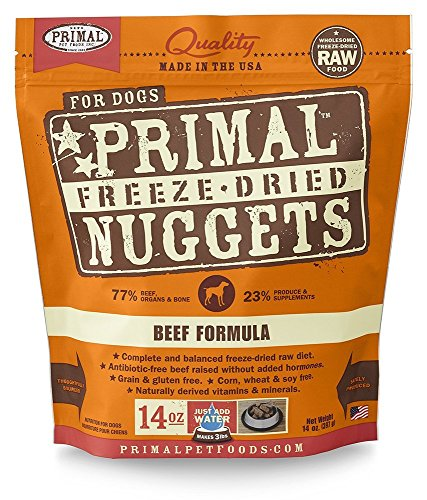 Primal Pet Foods Freeze-Dried Canine Beef Formula 14 Oz (Best Freeze Dried Food Brand)